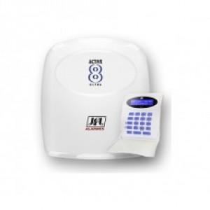 Central De Alarme Monitorada Active 8 Ultra C/ Teclado LCD JFL