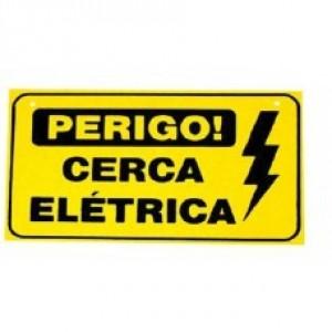 Placa Perigo Cerca Eletrica  - Confiseg