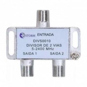 DIVISOR DE ANTENA 1X2 SAÍDAS 5-2400MHZ SATELITE