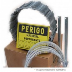Kit Perfil Concertina 30 CM P/ Cerca 10 MT - Alge