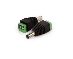 Plug P4 2,1x5,5MM Fixação Borne 2 Vias Macho